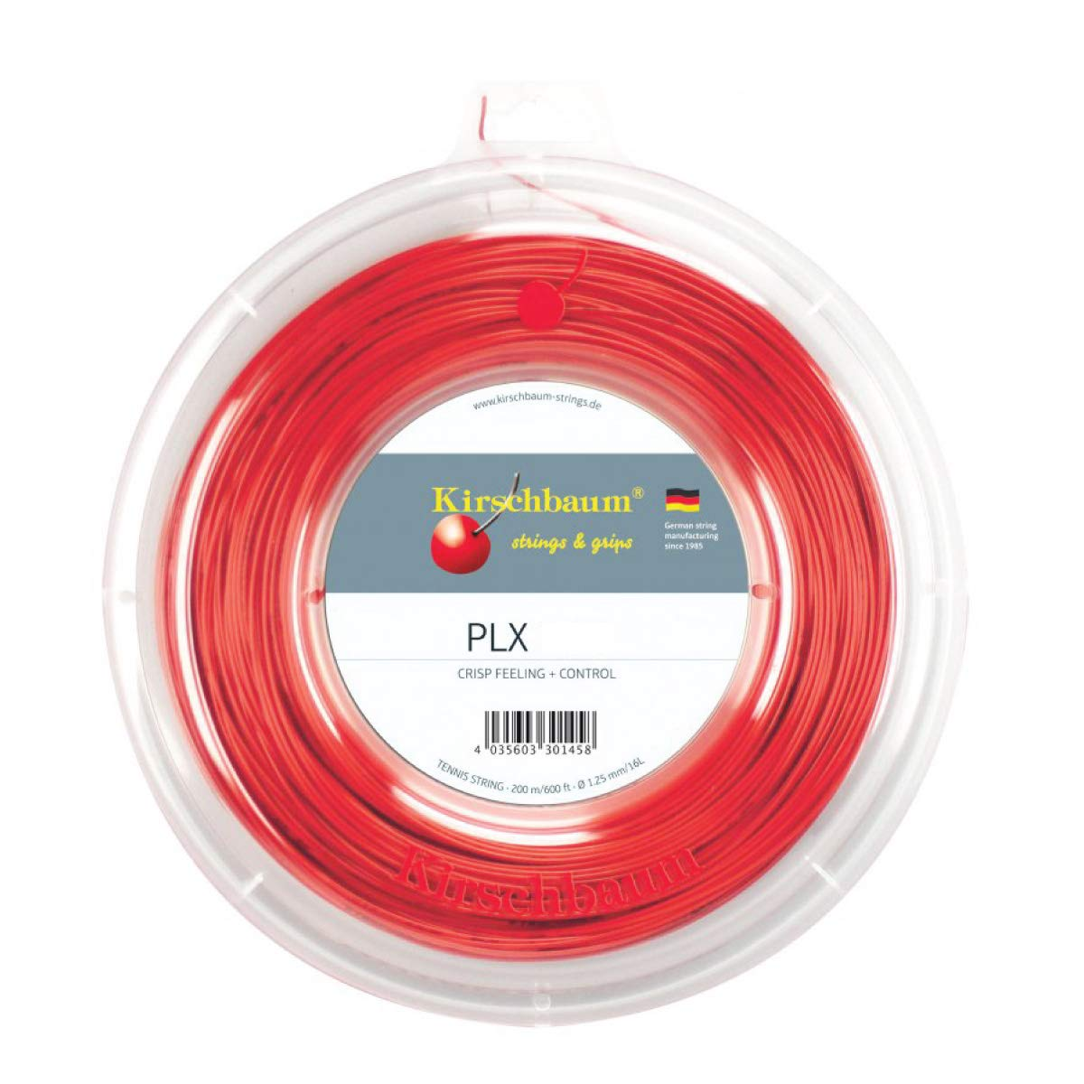 Bobine cordage de tennis Rouge PLX 1,25 mm x 200 M