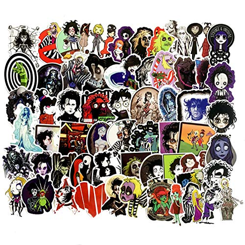 Tim Burton Child (50pcs Tim Burton's Corpse Bride Edward Scissorhands Stickers for Water Bottles Laptop Motorcycle Bicycle Skateboard Luggage Decal Graffiti Patches)