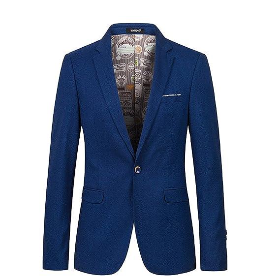 Slim Fit chaquetas chaquetas de traje Blazers vestido trajes vestir para hombre Azul azul M: Amazon.es: Ropa y accesorios