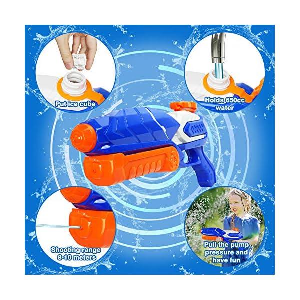 MOZOOSON Pistola ad Acqua Giocattolo per Bambini, Potente Pistola ad Acqua con capacità di umidità 650ML   Pistola a… 3 spesavip