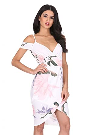 c3b2e020e6c2a AX Paris Women's Strappy Off The Shoulder Wrap Dress at Amazon ...