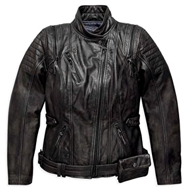 0513b57c0 Harley-Davidson Women's Brava Convertible Leather Jacket, Black ...