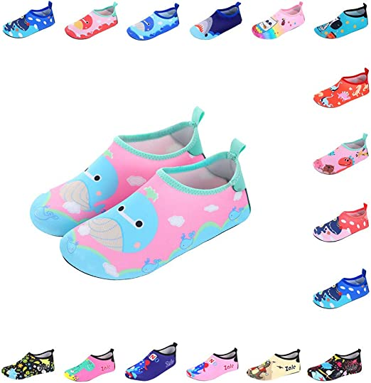 Toddler//Little Kid//Big Kid SENFI Boys Girls Water Shoes Mutifunctional Barefoot Quick Dry Aqua Shoes for Beach Pool Eercise