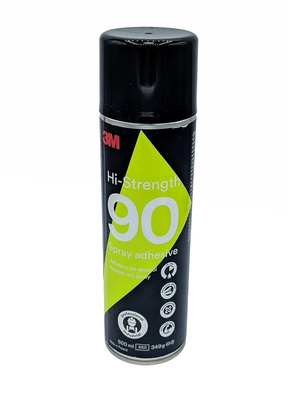 SOLBI - MURAL. 3M Spray Adhesivo S90 de Altas Prestaciones, perfecto para reparar y tapizar el techo del coche, Bote de 500 ml