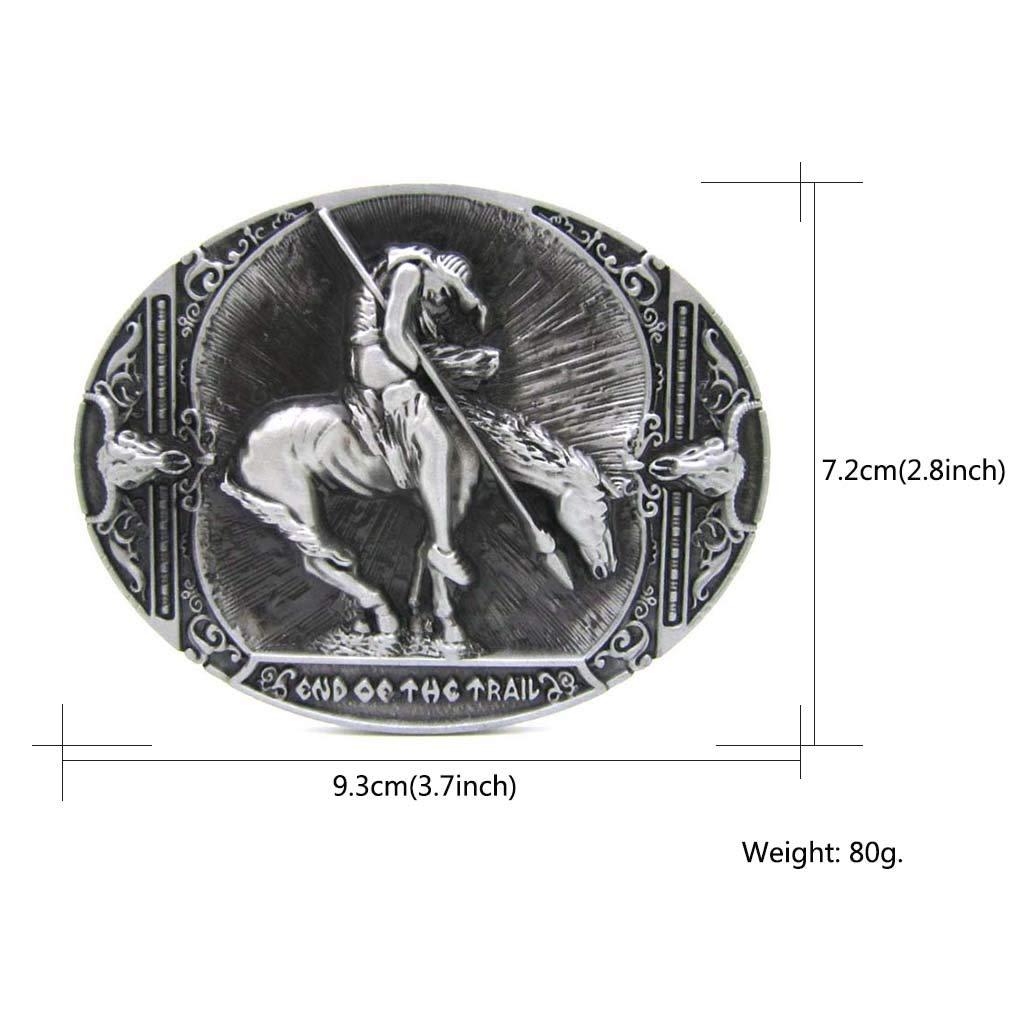Western Texas Long Horn Bull Grey Black Belt Buckle Horseman Cowboy Belt Buckles for Men Women Native Buckles for Belts