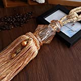 Beautiful Color Boutique Curtain Hanging Ball Curtain Decoration Strap Crystal Window Ornaments Curtain Accessories (Rice wine)
