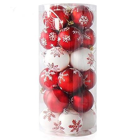 Mdurian Bola de Navidad Adorno árbol de Navidad 24pcs Prendas ...