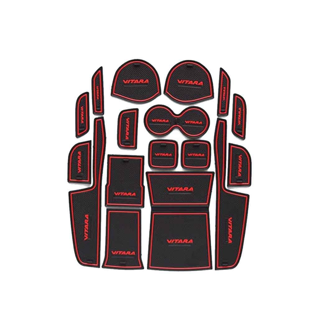 IMHERE W U Latex-Schalen-Matten-T/ür-Groove Pad-Auto-Staub-Beweis-Tor Slot Kissen f/ür Suzuki Vitara 2016 Dekoration Mat