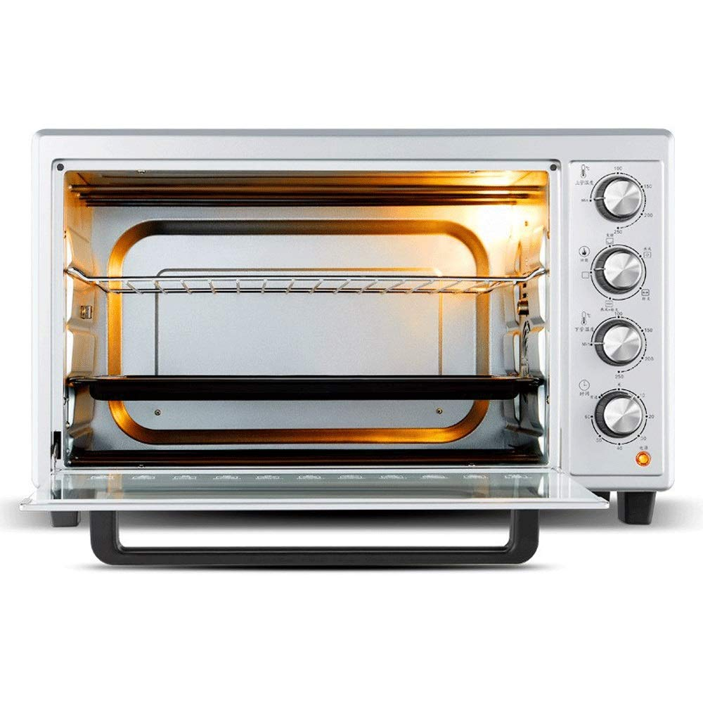 LQRYJDZ Toaster Oven,48 liters 1800 W Toaster Oven,6-Slice Convection Toaster Oven with Timer-Toast Broil Settings, Includes Baking Pan,/Rotate Grill and Take-up Rack by LQRYJDZ