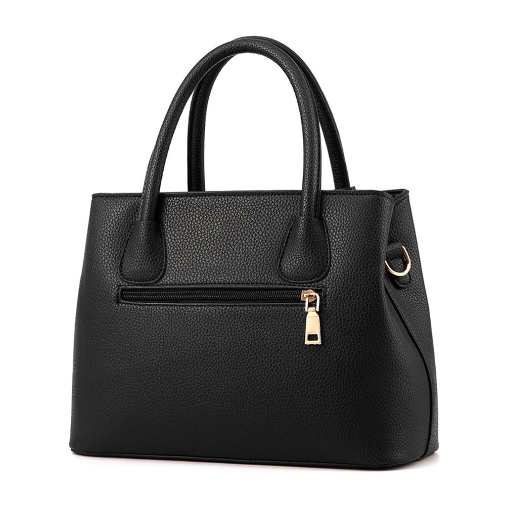 8d8971c100 Amazon.com  Covelin Women s Top-handle Cross Body Handbag Middle Size Purse  Durable Leather Tote Bag Black  Shoes