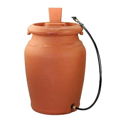 Amazon Com Fcmp Outdoor Us4000 Tc Rain Barrel Terra Cotta