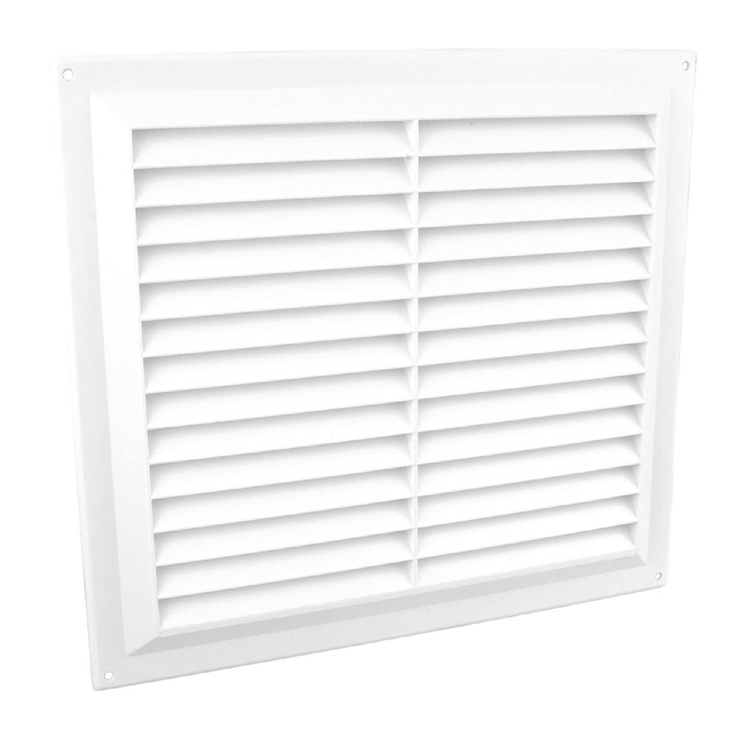 9' x 9' White Plastic Louvre Air Vent Grille with Flyscreen Cover Home Smart