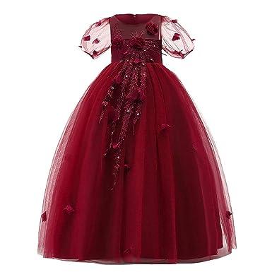 Brillanto Vestido de Princesa para Niña Falda Tul Niña Disfraz de ...