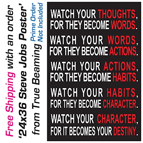ArtEdge Watch Your Thoughts Motivational Poster Print 13x19 in