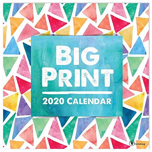 (2020 Big Print Large Grid Wall Calendar)