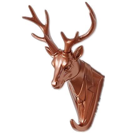 Joyero de con forma de cabeza de ciervo decorativa sintética ...