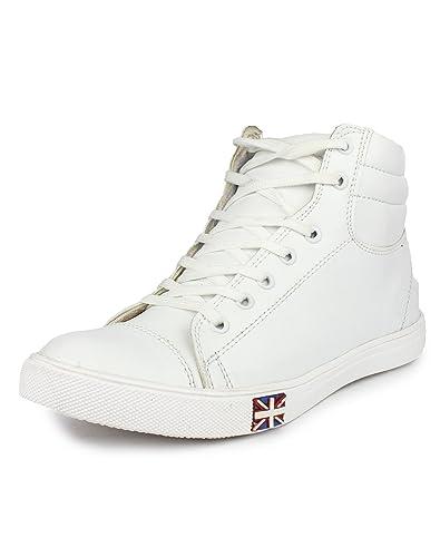 T-Rock Men s White Sneakers-9 UK India (43 EU) (Whit bot 9)  Buy ... 9d4d570f05cc1