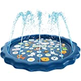 "Bestmaple Sprinkler for Kids, Splash Pad, and Wading Pool for Learning - Children's Sprinkler Pool, 68"" Inflatable Water Toys -""from A to Z"" Outdoor Swimming Pool for Babies and Toddlers"