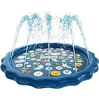 "Bestmaple Sprinkler for Kids, Splash Pad, and Wading Pool for Learning - Children's Sprinkler Pool, 68"" Inflatable Water…"