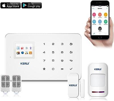 KERUI G18 Sistema de seguridad GSM, sistema de alarma inalámbrico ...