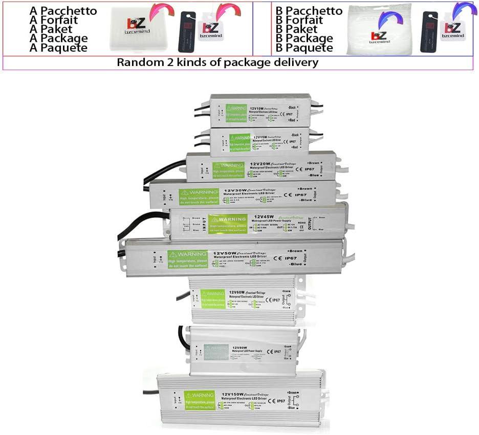 Controlador LED IP67 a Prueba de Agua AC DC 12V / 24V 10W 15W 20W 25W 30W 36W 45W 50W 60W 80W 100W 120W 150W Fuente de alimentación para Tira de luz LED,30W,24V