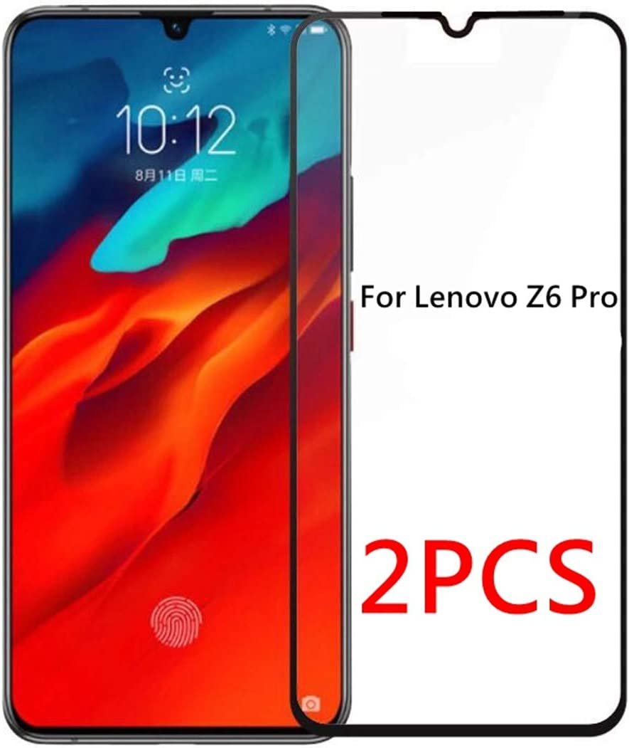 2 Pack] Protector de Pantalla para Lenovo Z6 Pro, Weideworld 3D ...
