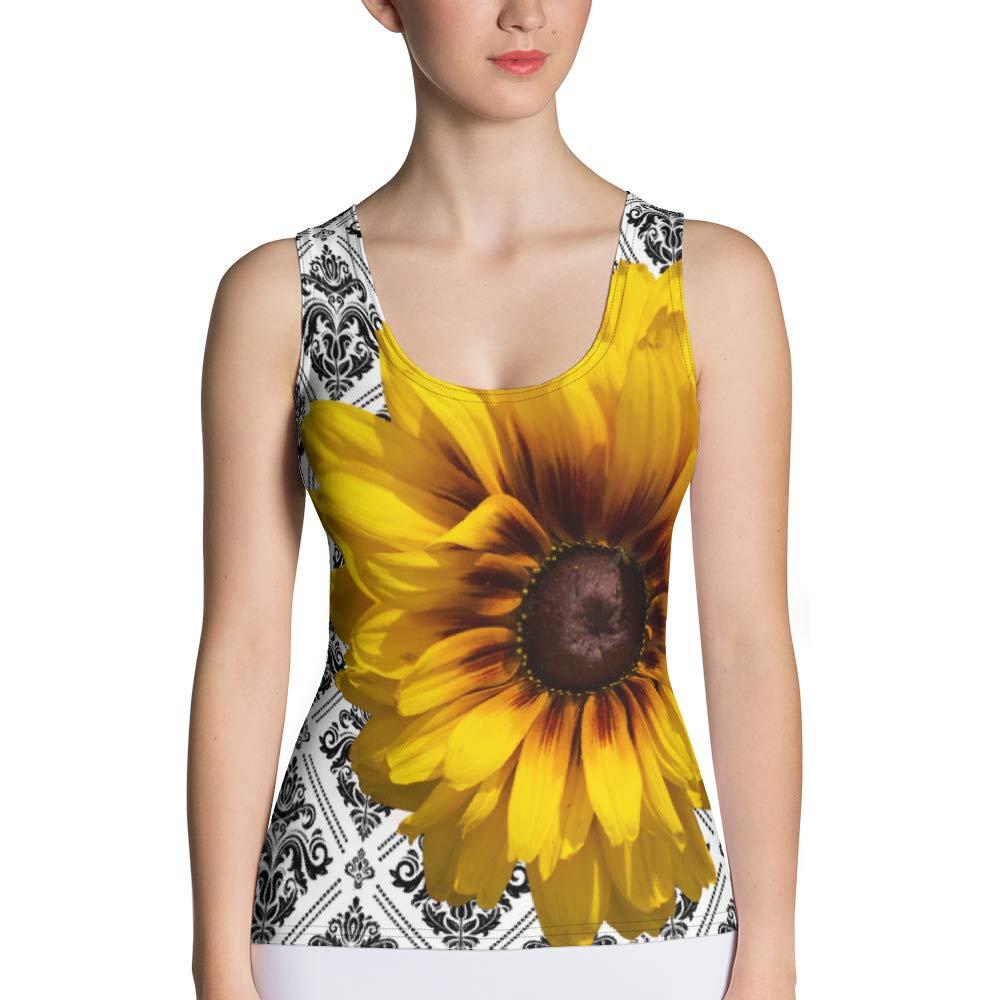 Athletic Tank Top SP Fine Prints Sunflower Tank Top Susannah Peddie Designs