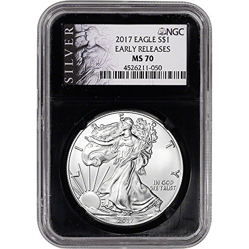 2017 American Silver Eagle (1 oz) Early Releases ALS Label Black Core $1 MS70 NGC