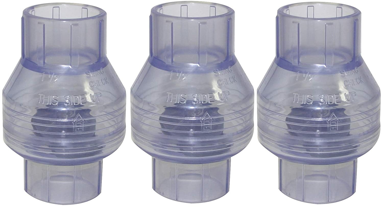 No Spring 1-1//2 Slip 1-1//2 Slip Valterra Products Check Valve Valterra 200-C15W PVC Swing Clear