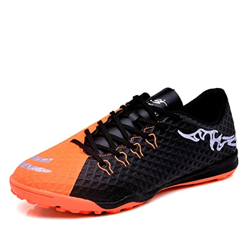 3a31e3f12 Soccer Shoes Indoor Outdoor Football Boots Athletic Turf Mundial Team Cleat  Running Sports Lightweight Breathable Anti-Skid Damping Shoes for Men and  Kids ...
