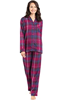 7aae1424099db PajamaGram Soft Flannel Pajamas Women - Button Front Pajamas Women