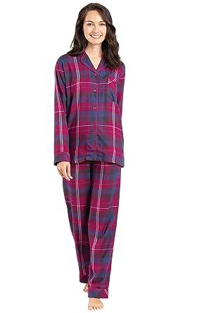 PajamaGram Soft Flannel Pajamas Women - Button Front Pajamas Women ... 99a9fbfd0a