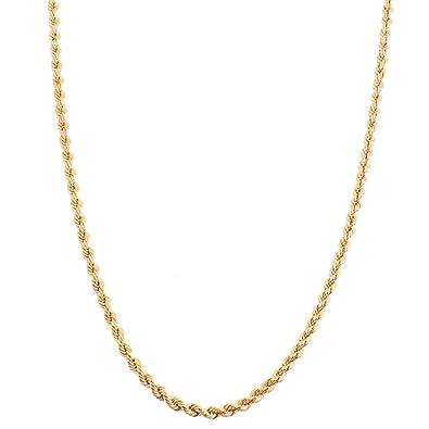 2bfef4a51098 Alek Palisandro estrellas Estrella Oro Mujer Collar Cordón Cadena Oro  amarillo 375 (9 quilates) 40 cm 2