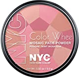 New York Color Wheel Mosaic Face Powder, Pink Cheek Glow, 0.32 Ounce