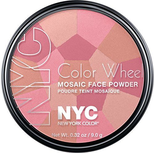 New York Color Wheel Mosaic Face Powder, Pink Cheek Glow, 0.32 Ounce - Face Wheel