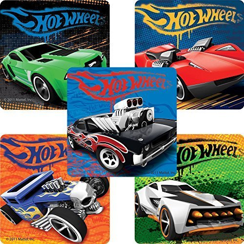 Classic Hot Wheels™ Stickers - Birthday Party Supplies & Favors - 75 per Pack (Cars Stickers Wheels Hot)