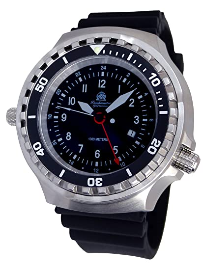 Amazon.com: XXL 52mm - 1000m -Military Diver Watch Tauchmeister with Sapphire Glass and Helium velve T0311: Watches