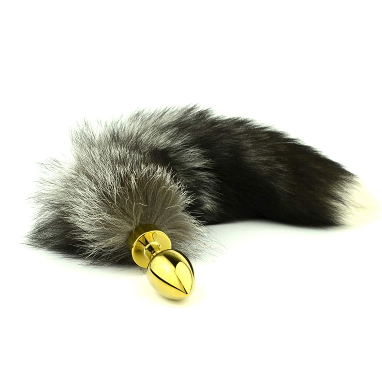 20b6df841f3 Amazon.com  PINGMINDIAN Wonderful Gold Anal Plug Stainless Steel Butt Plug  Cat Tail Anal Plug Faux Fox Tail Cosplay Anal Sex Toys Metal Butt Plug Dog  Tail  ...