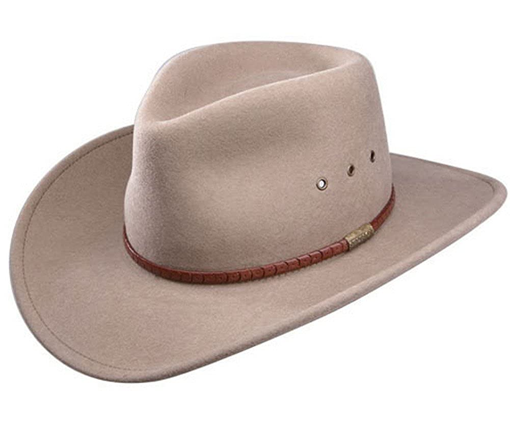 fc0ff5c9db4cd2 The Moab Crushable Wool Stetson Hat, MUSHROOM, Size XLARGE (24