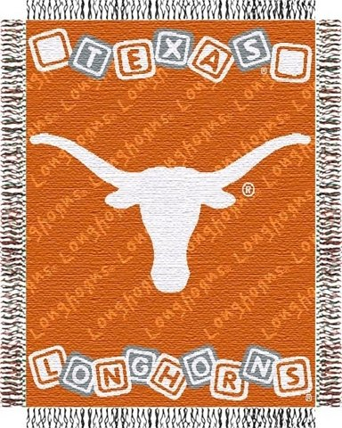 The Northwest Company Texas Longhorns Triple Woven 36'' x 48'' Baby Blocks Blanket/Throw by The Northwest Company