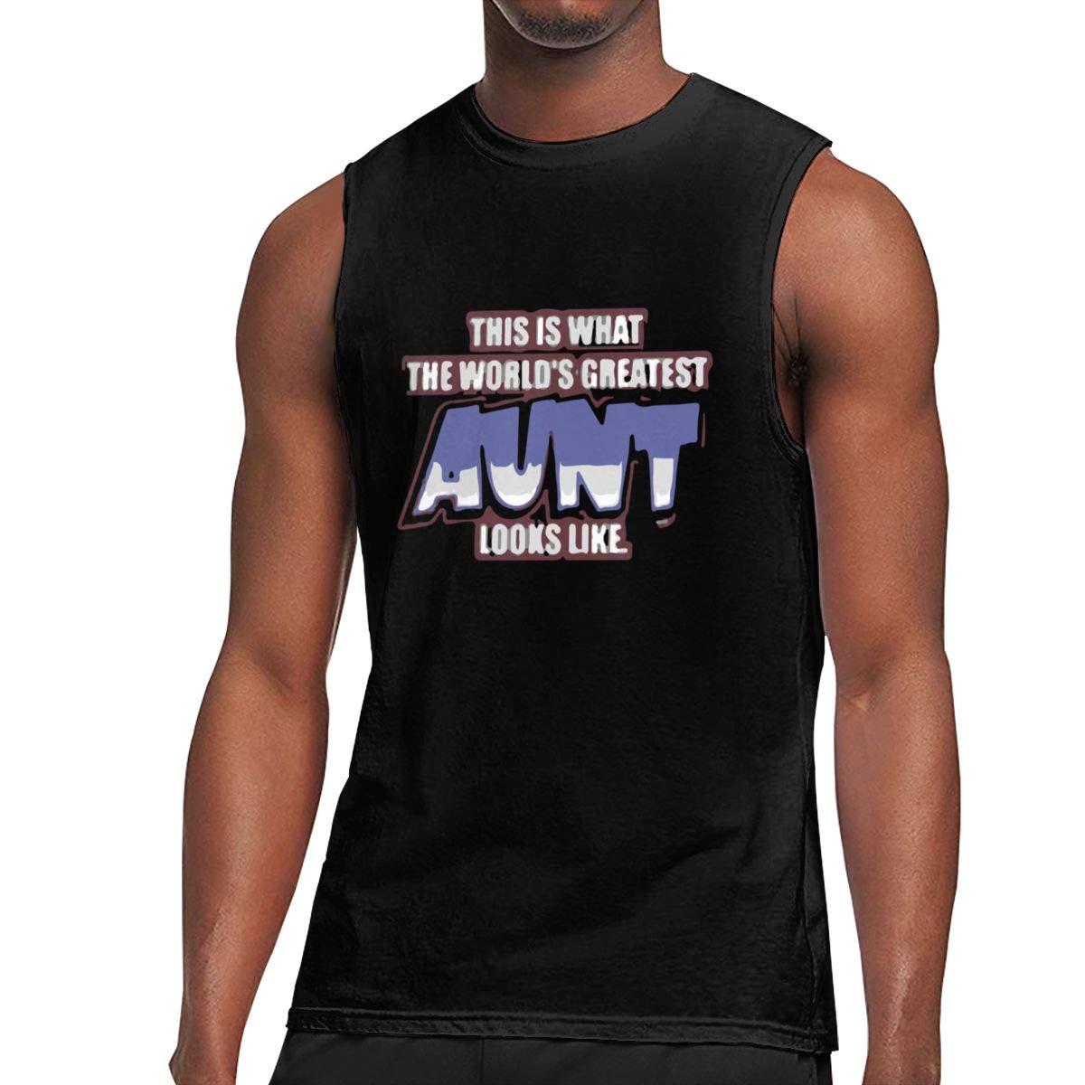 Seuriamin The World S Greatest Aunt S Summer Travel Sleeveless Muscle Short Sleeve T Shirt