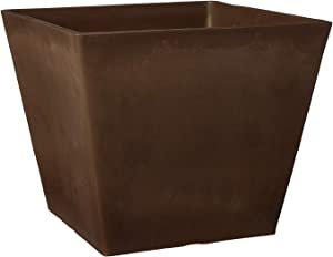 Arcadia Garden Products UF31C Simplicity Square, 12 by 10-Inch, Chocolate, 12 by 12