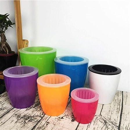Self Watering Plant Pot Indoor Outdoor Plastic Flower Pot// Planter 4 Colors