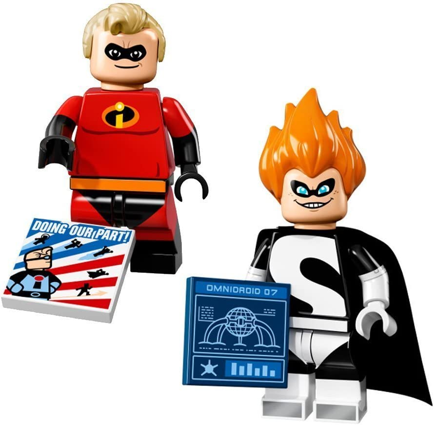 Amazon Com Lego Disney Series Minifigures Mr Incredible And Syndrome 71012 Toys Games