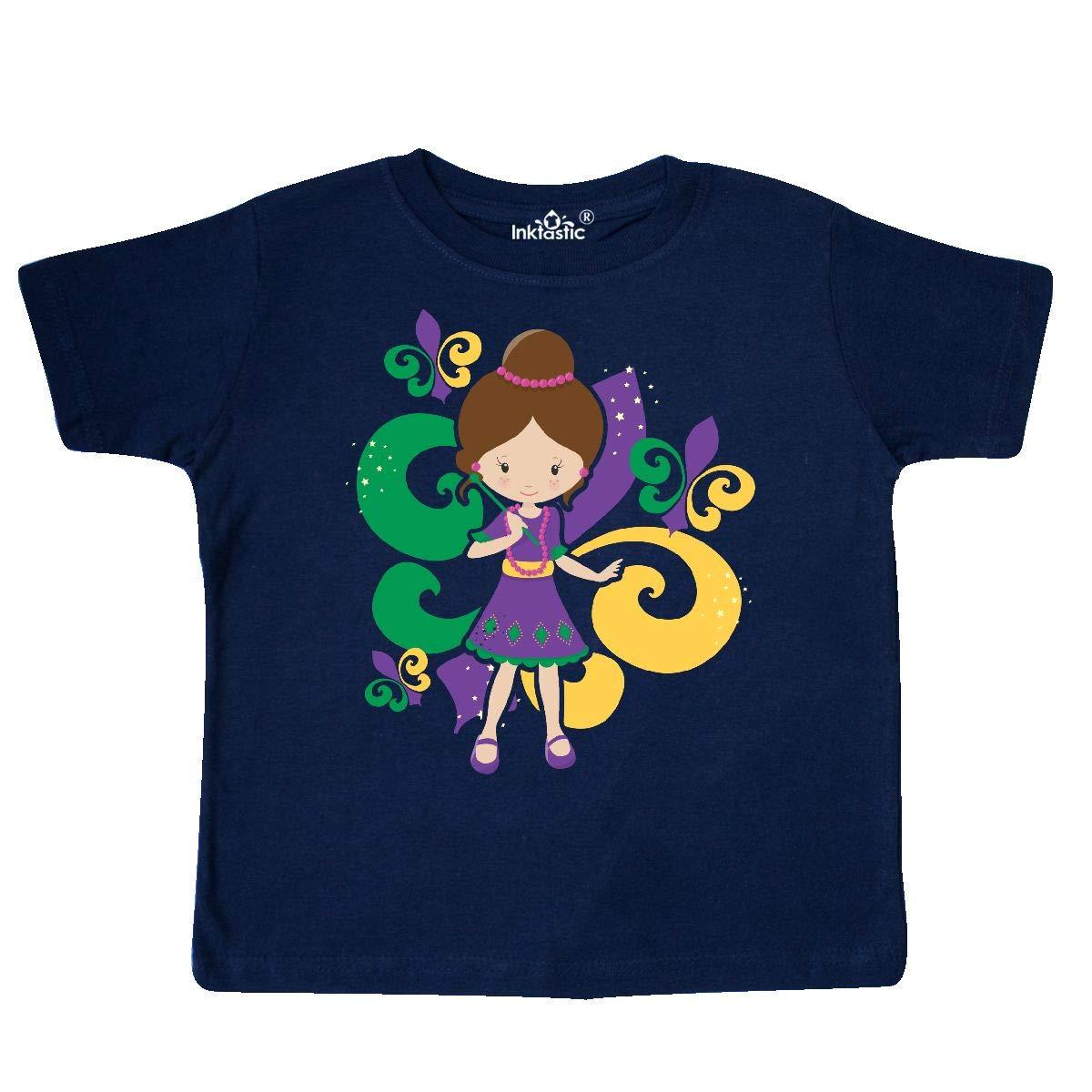 inktastic Mardi Gras Girl Toddler T-Shirt