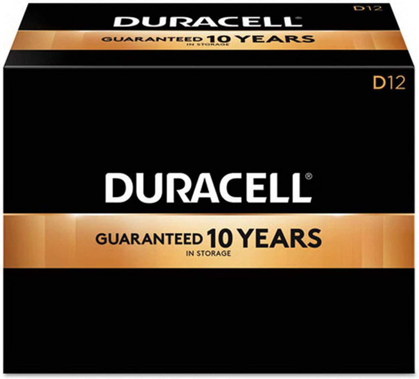 Duracell 1.5V CopperTop Alkaline Batteries, D, MN1300-12 Pack