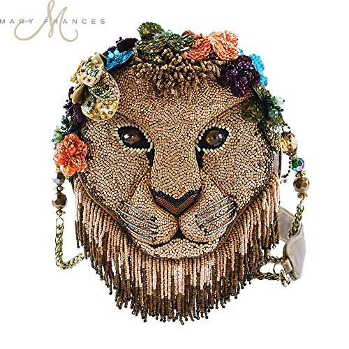 MARY FRANCES Girl Pride Beaded Lion Shoulder Handbag by Mary Frances