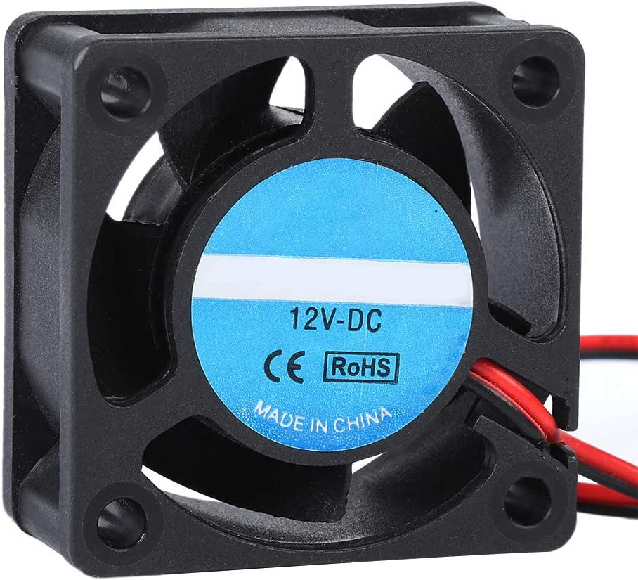 Diyeeni Cooling Fan 40x40x19mm,Noise Reduction,Mini Cooling Fan DC 12V 0.15A 4020with Sleeve Bearing,for 3D Printer Accessories-Blac