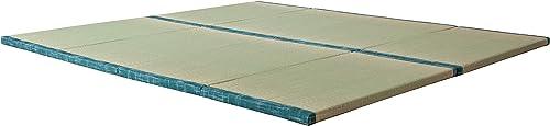 MustMat Tatami Futon Mattress Traditional Japanese Tatami Mat Comfortable Japanese Tatami Bed Rush Grass 35.4 x78.7 x1.2 2 Piece Set