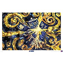 Doctor Who Exploding Tardis TV Poster Print - 24x36